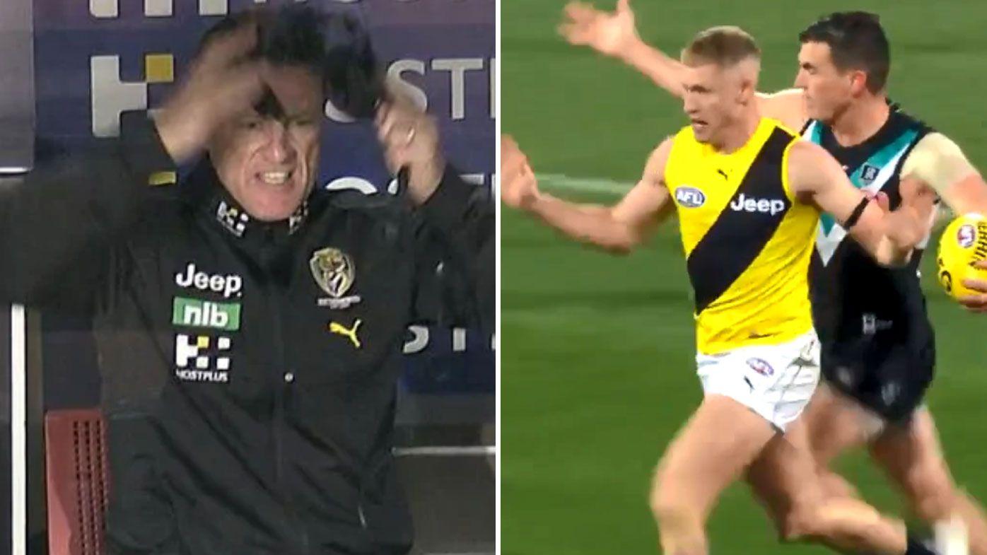 'It was just poor': Damien Hardwick laments Tigers' lack of discipline, Josh Caddy's 100m penalty