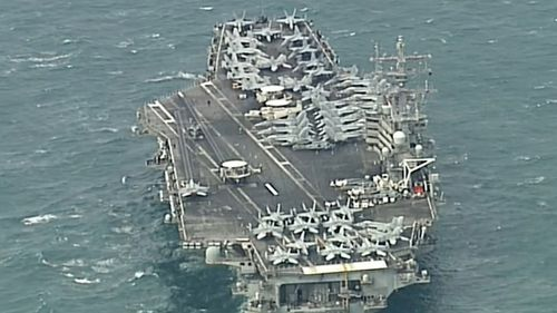 USS Ronald Reagan Brisbane US sailors docked USA Australia military exercise news Queensland