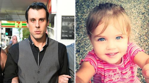 'Cruel and callous' Brisbane dad jailed for nine years over three-year-old daughter's death