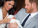 Harry Meghan Archie first phot