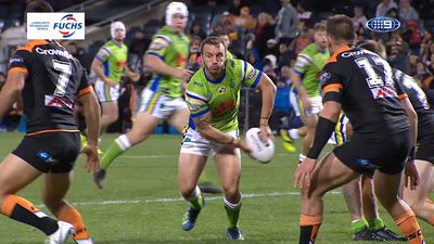 Raiders star Josh Hodgson sparks Raiders to huge victory over Wests Tigers