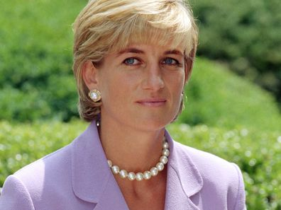 Princess Diana at the Red Cross Headquarters in Washington in 1997.
