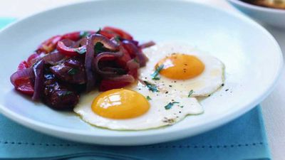 "Recipe: <a href=""http://kitchen.nine.com.au/2016/05/05/14/38/spanishstyle-bacon-and-eggs"" target=""_top"">Spanish-style bacon and eggs</a>"