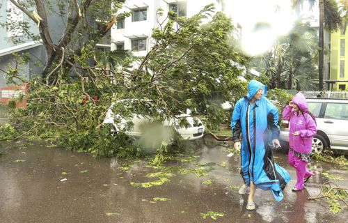 The Darwin CBD during The aftermath of Tropical Cyclone Marcus. (AAP)