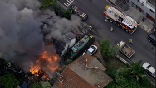 Firefighters brought it under control in just over 30 minutes. (9NEWS)
