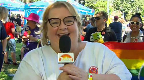 Magda Szubanski struggled to hide her joy during an interview with TODAY Extra