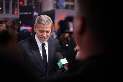 George Clooney talking to 9Honey Celebrity