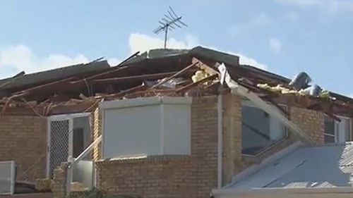 A wild storm that swept through parts of Western Australia tore the roof off the home of Two Rock's resident Mike Baker.