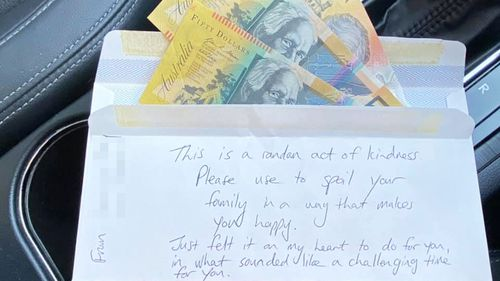 Woman moved to tears by surprise gift left in second-hand car