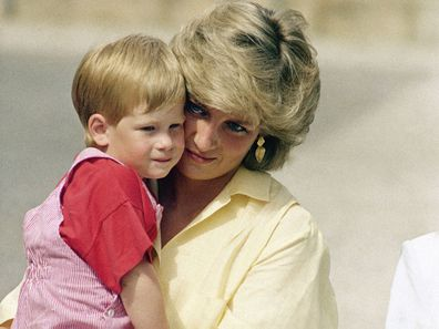 Princess Diana with Prince Harry