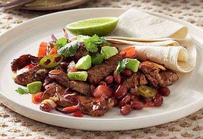 Mexican beef and bean stir-fry