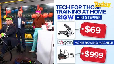 Trevor Long ran the Today team through machines that could be used at home.