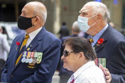 Masks worn at Sydney service