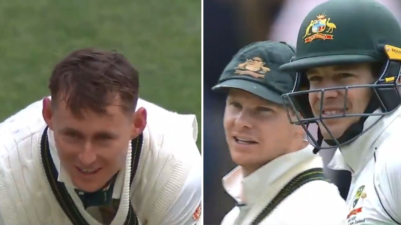 Paine jokes with Labuschagne
