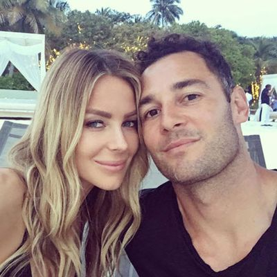 <p>Jennifer Hawkins and Jake Wall</p> <p>Married for 3.5 years. Together for 12 years.</p>