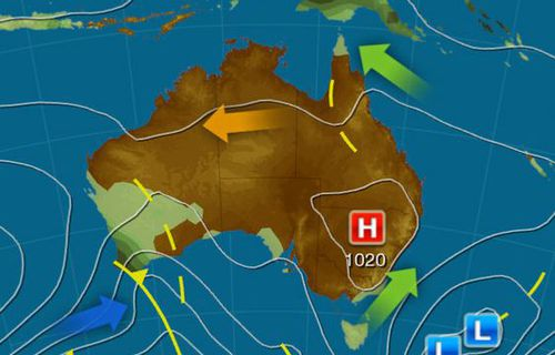 A high pressure system will bring mostly sunny weather to much of Australia's east coast this weekend. Picture: Weatherzone