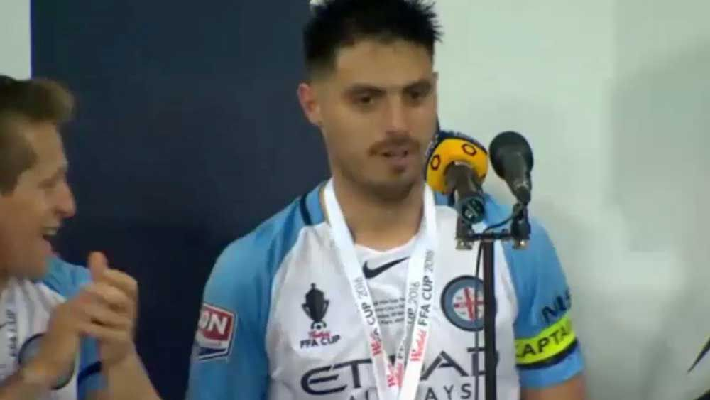Football: Fornaroli gives foul-mouthed acceptance speech in FFA Cup