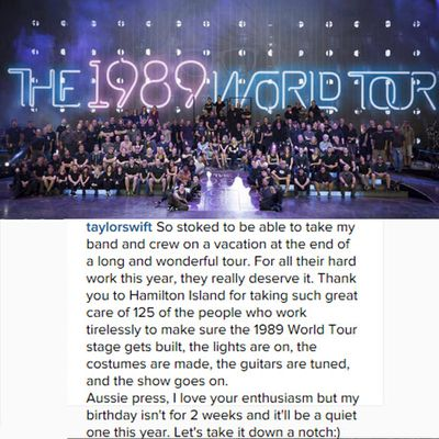 <p>Taylor responded to claims she kicked a <em>Sunrise </em>reporter off the island, and hit back at rumours she was throwing an early birthday bash with members of her famous squad.</p>
