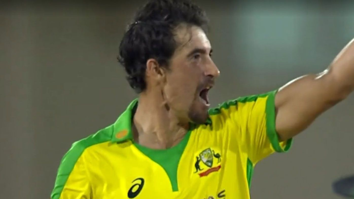 Mitchell Starc closed out Australia's win in game four of the T20 series against the West Indies.