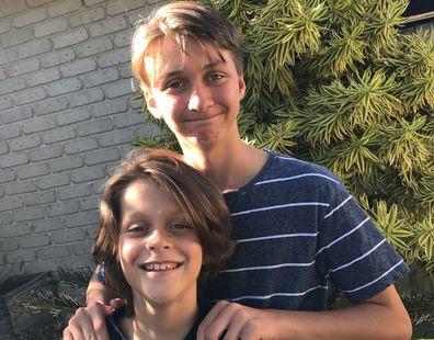 Oliver with older brother Charlie