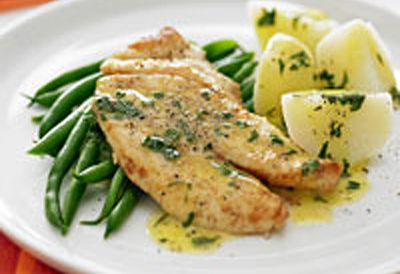2. Fish with lemon butter sauce