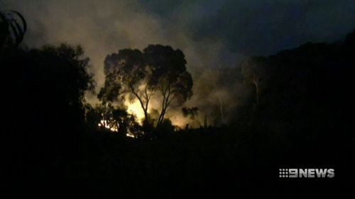 A man has been arrested after three fires were allegedly deliberately lit near homes in south Adelaide overnight.