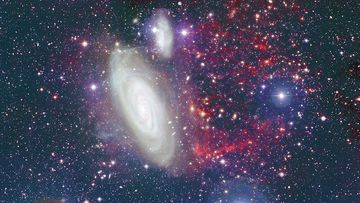Cosmic collision is the catalyst for stunning intergalactic imagery