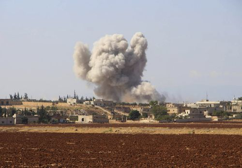 An explosion in Idlib, the last rebel bastion in the area which was expecting to see a military offensive by Syrian troops.