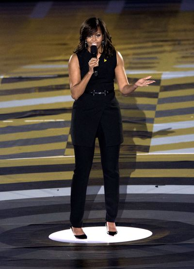Michelle Obama in BCBG at the opening of the Invictus Games