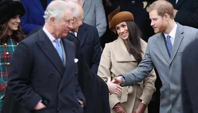 Royals at church in 2017