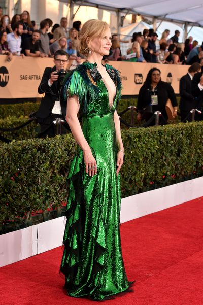 <p>It's almost a wrap for 2017, which means a nostalgic look back at the fashion moments that defined the year. </p> <p>The red carpet continued to be a place where elegant craftsmanship, forward-thinking design - and particularly this year - an awful lot of leg shone.&nbsp;</p> <p>We have selected the looks we loved that shook up the red carpet for 2017. Take it away Nicole Kidman in Gucci at the 2017 SAG Awards in January</p>