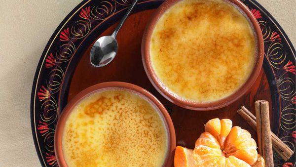 Orange and cinnamon creme brulee