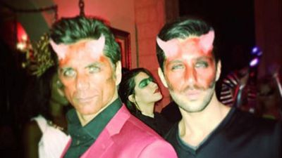 John Stamos went as a devil this Halloween. (Facebook)