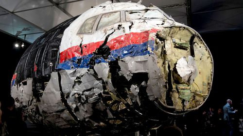 The wreckage of MH17. (AP)