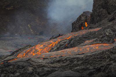 Reykjanes volcanic eruption, Iceland, 2021