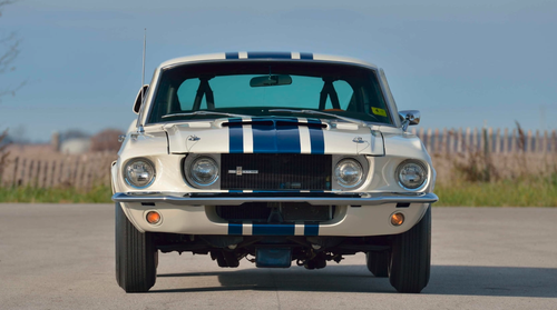 The 1967 Ford Mustang Shelby GT500 Super Snake that fetched millions at auction.