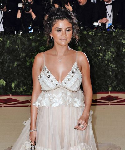 Singer Selena Gomez at the 2018 Met Gala Ball in New York