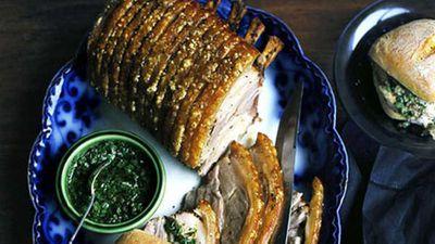 Rack of roast pork