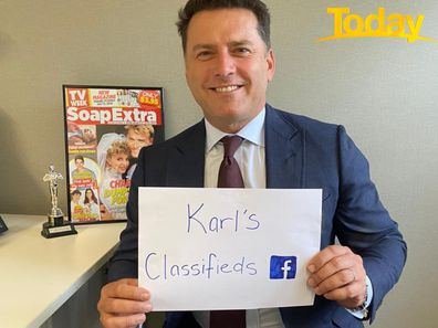 Karl Stefanovic is doing his bit for Australian businesses during the coronavirus crisis