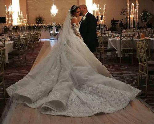 Mr and Mrs Bechara wed in a lavish Lebanese Maronite church ceremony earlier this month.