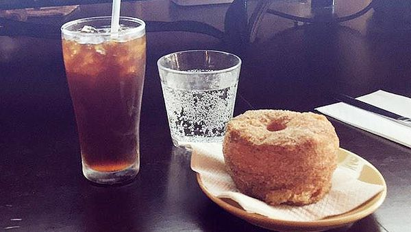 Brewtown Newtown cold drip and doughnut (Bobby May/Twitter)