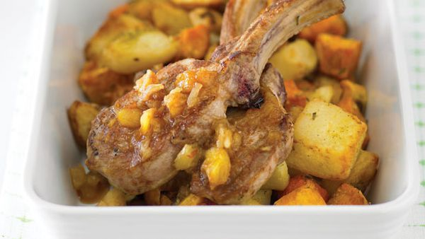 Sweet sour roast pork and vegies