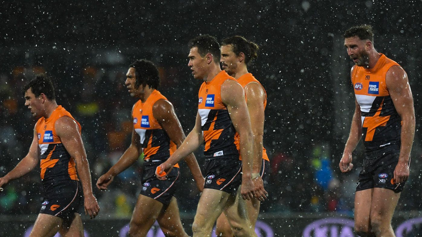 The GWS lost to the Hawks in the snow