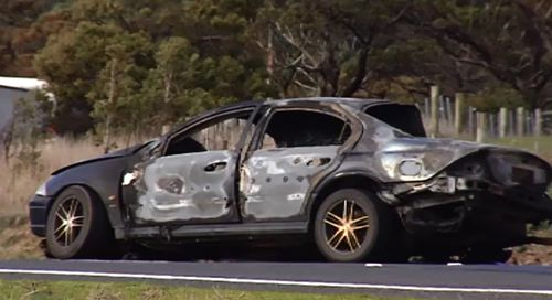 Man dies in fiery crash west of Melbourne