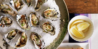 Balsamic oysters