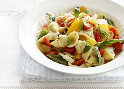 "Recipe:<a href=""http://kitchen.nine.com.au/2016/05/17/14/26/fresh-tomato-mozzarella-and-basil-orecchiette"" target=""_top"">Fresh tomato, mozzarella and basil orecchiette</a>"