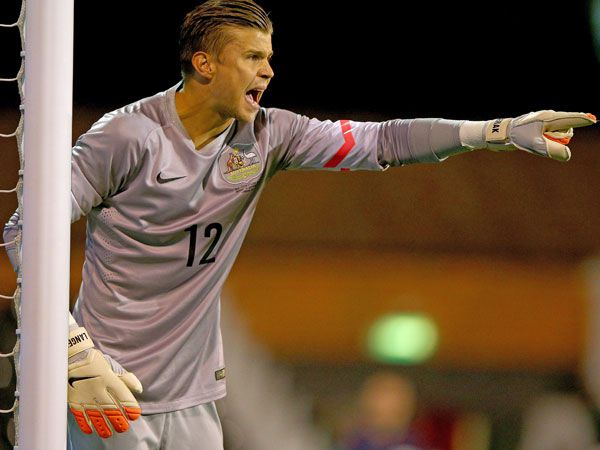 Socceroos goalkeeper Mitch Langerak. (Getty-file)