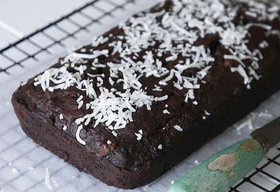 Chocolate, coconut and banana bread