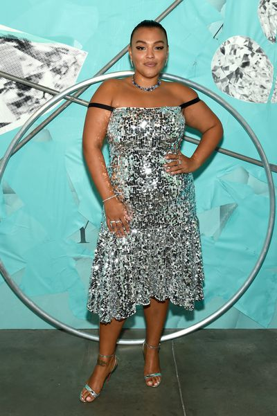 Model Paloma Elsesser attends the Tiffany Blue Book Collection launch at Studio 525 on October 9, 2018 in New York City.