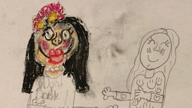 Momo drawing by child